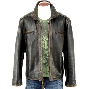 MARC NEW YORK/ Andrew Marc Distressed Leather
